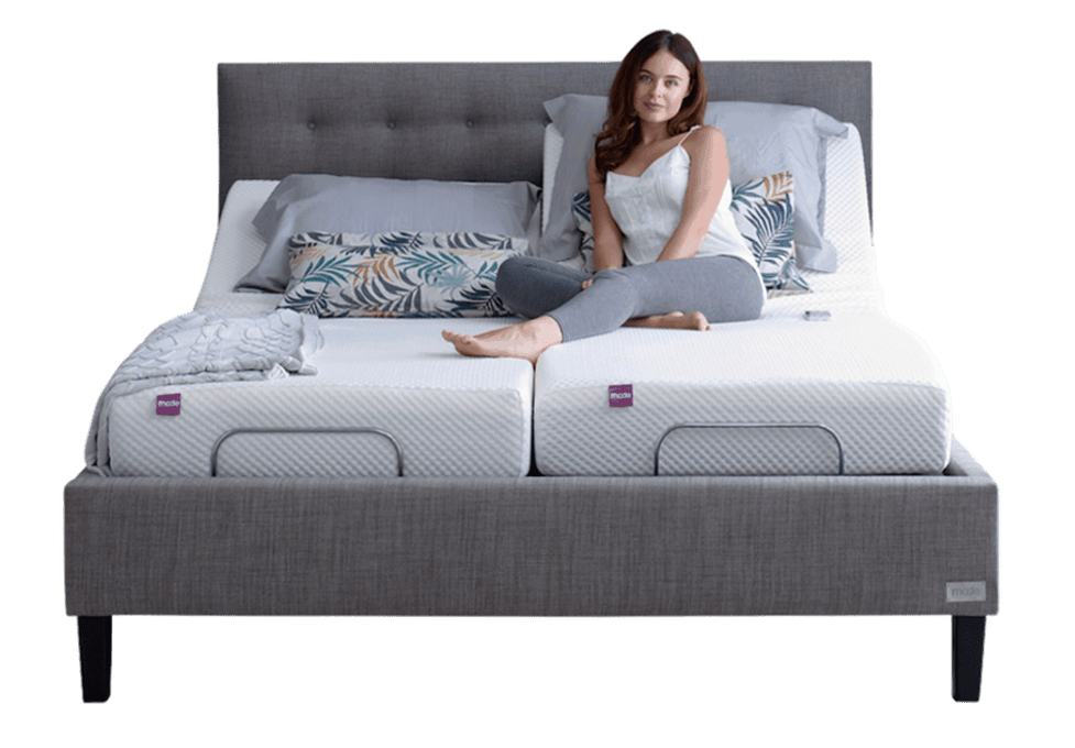 Mode smart bed super king stone front with model